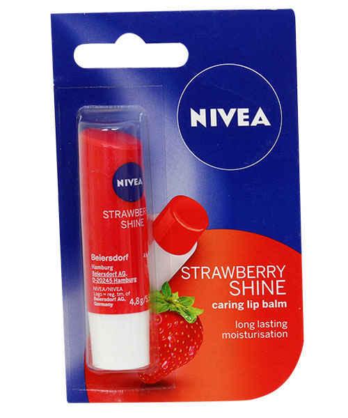 NIVEA STRAWBERRY SHINE LIP CARE 4.8 GM