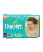 PAMPERS LARGE DIAPERS 60S