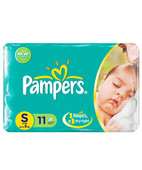 PAMPERS DIAPERS SMALL 11S