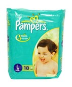 PAMPERS L DIAPERS 18S