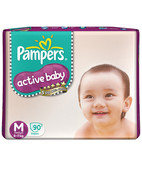 PAMPERS ACTIVE BABY M 90S