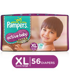PAMPERS ACTIVE BABY XL 56S