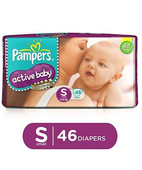 PAMPERS ACTIVE BABY DIAPERS S 46S