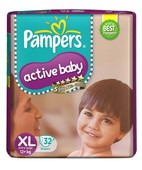 PAMPERS ACTIVE BABY XL 32S