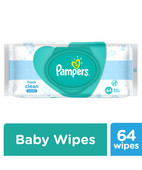 PAMPERS FRESH CLEAN BABY WIPES 64S