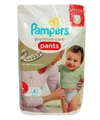 PAMPERS PREMIUM CARE PANTS L 8S