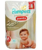 PAMPERS PREMIUM CARE PANTS M 9S