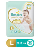 PAMPERS PREMIUM CARE PANTS L 20S
