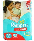 PAMPERS PANTS M 8S