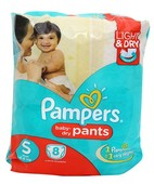 PAMPERS PANTS S 8S
