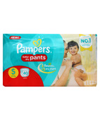 PAMPERS PANTS S 40S