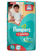PAMPERS PANTS XL 58S