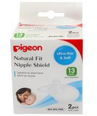 PIGEON NATURAL FIT SILICONE NIPPLE SHIELD NIPPLE SIZE 13MM