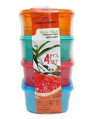 PRINCE 4PC SQUARE CONTAINER SET 1125ML