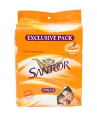 SANTOOR SANDAL SOAP 4S PACK 150 GM