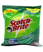 SCOTCHBRITE SCRUB PAD 7.5CMX10CM PK OF 3
