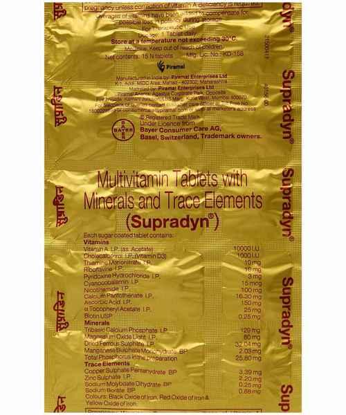 Supradyn Multivitamin Tablet Supradyn Buy Supradyn