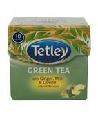 TETLEY GREEN TEA BAGS GINGER MINT & LEMON 10S