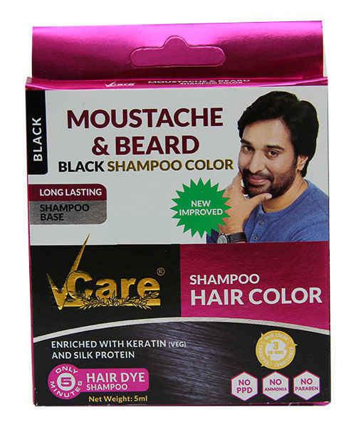 Vcare Hair Color Moustache Beard Black Shampoo 5ml Vcare Herbal Buy Vcare Hair Color Moustache Beard Black Shampoo 5ml Online At Best Price In India Medplusmart