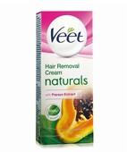 VEET NATURALS HAIR REMOVAL NORMAL TO DRY SKIN PAPAYA CREAM 25GM