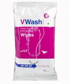 V WASH PLUS 10S WIPES