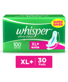 WHISPER ULTRA CLEAN EXTRA LARGE WINGS 30 PADS