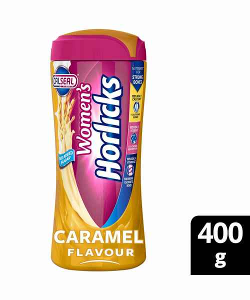 WOMENS HORLICKS CARAMEL POWDER JAR 400GM
