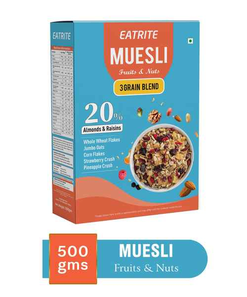 EATRITE MUESLI FRUIT & NUT 500GM