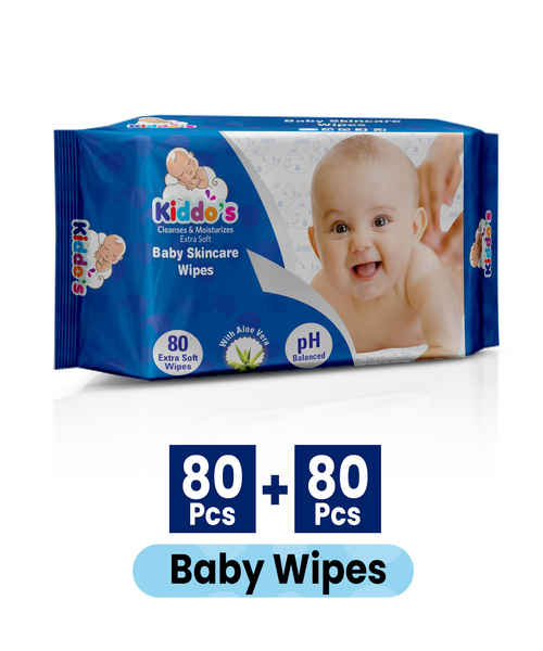KIDDOS BABY SKINCARE WIPES 80S PACK 1+1