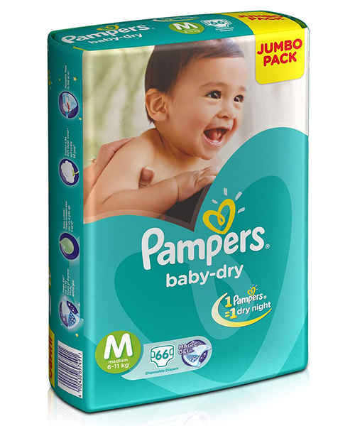 PAMPERS DIAPERS M 66S