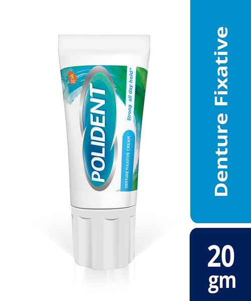 POLIDENT 20GM DENTURE FIXATIVE & ADHESIVE CREAM