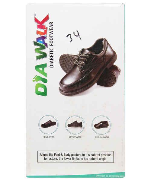 DIAWALK DIABETIC GENTS FOOT WEAR 0018 SIZE 7