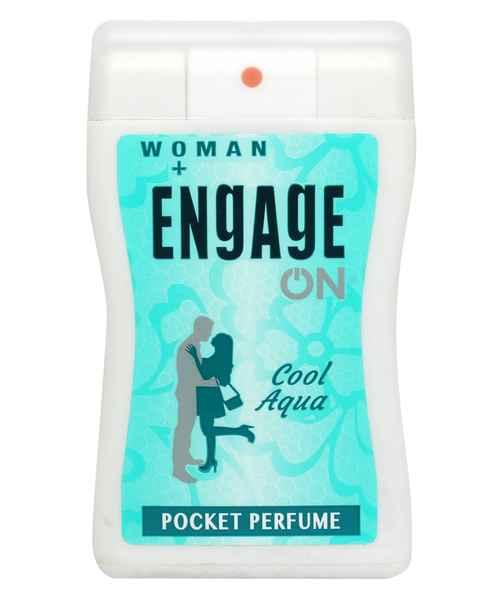 ENGAGE ON WOMEN'S COOL AQUA POCKET PERFUME 18ML