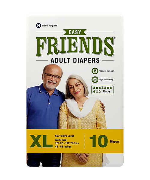 FRIENDS ADULT DIAPERS EASY XLARGE 10's