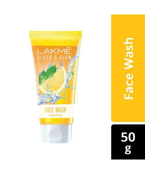 LAKME BLUSH AND  GLOW LEMON GEL FACE WASH 50GM
