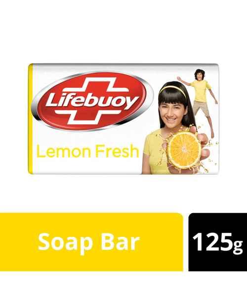 LIFEBUOY LEMON FRESH SOAP BAR 125GM
