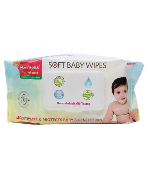 MORISONS BABY DREAMS WIPES 80S WITH LID