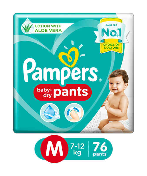 PAMPERS PANTS M 76S