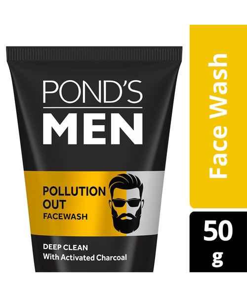 PONDS MEN POLLUTION OUT DEEP CLEAN FACE WASH 50GM