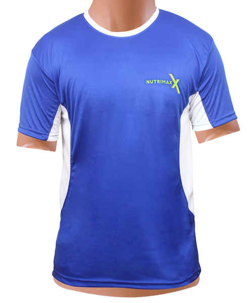 NUTRIMAXX T SHIRT BLUE WITH WHITE PATCH XL