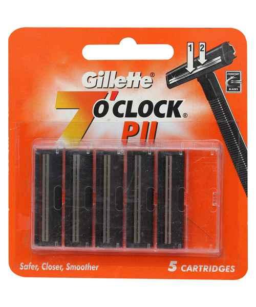 GILLETTE 7O CLOCK PII CATRIDGES 5S