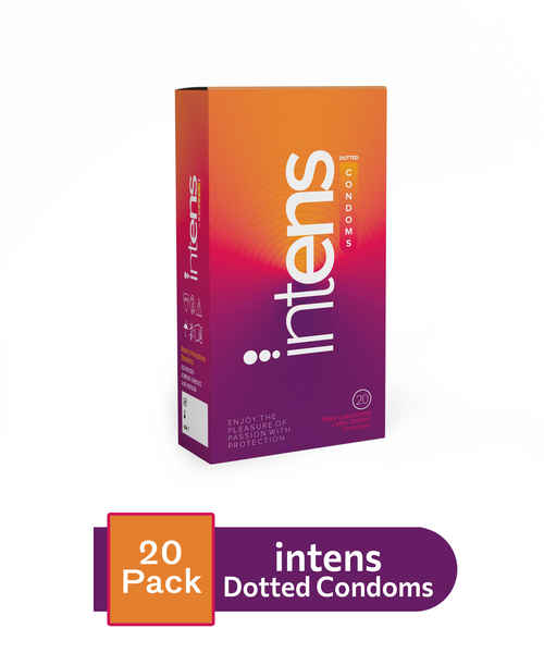 INTENS DOTTED CONDOMS 20S