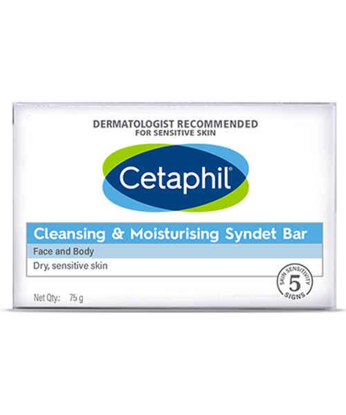 CETAPHIL CLEANSING & MOISTURISING SYNDET BAR 75GM