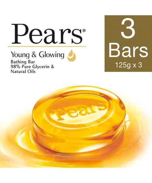 PEARS PURE & GENTLE BATHING SOAP 3 x 125GMS