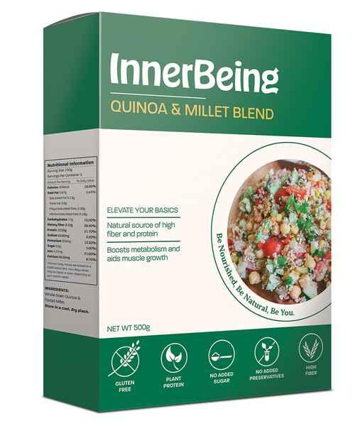 INNERBEING QUINOA & MILLET BLEND 500GM BOX