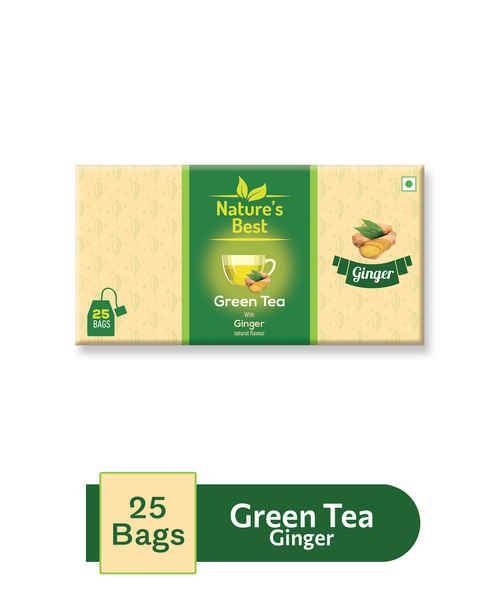NATURES BEST GREEN TEA GINGER 25S SACHET