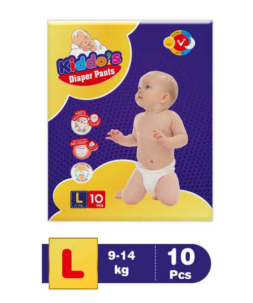 KIDDOS DIAPER PANTS L 10S