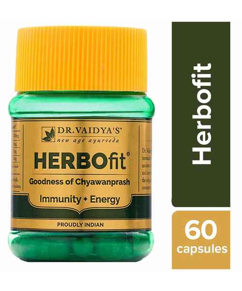 DR VAIDYAS HERBOFIT PACK OF 2- IMMUNITY AND ENERGY BOOSTER, GOODNESS OF CHYWANPRASH IN A CAPSULE