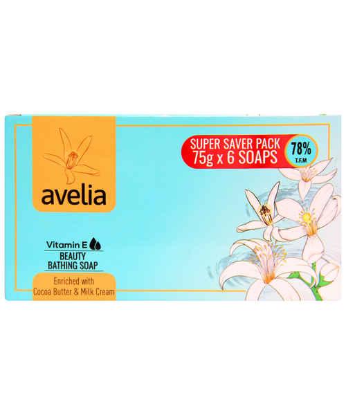 AVELIA BEAUTY BATHING SOAP 6*75 GM