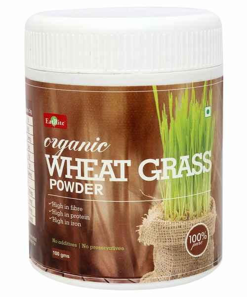 EATRITE WHEAT GRASS ORGANIC POWDER 100GM